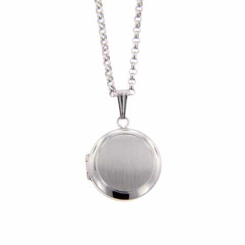Sterling Silver Small Oval Locket with Cross