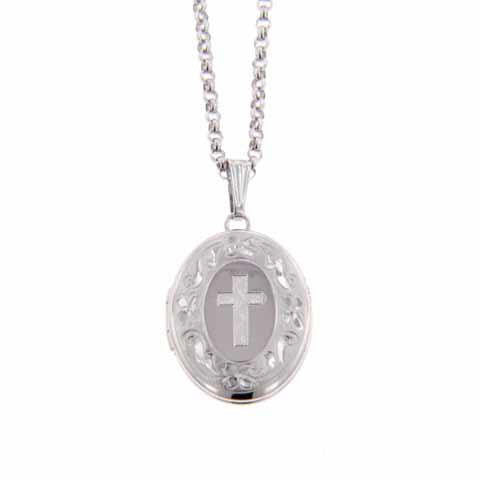 lockets disc jumbo product engraved mynamenecklace cross baptism with gifts charm necklace