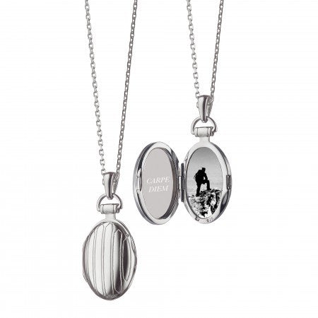 Sterling Silver Petite Pinstripe Locket