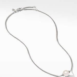 Solari Pendant Necklace with Diamonds and Freshwater Pearl
