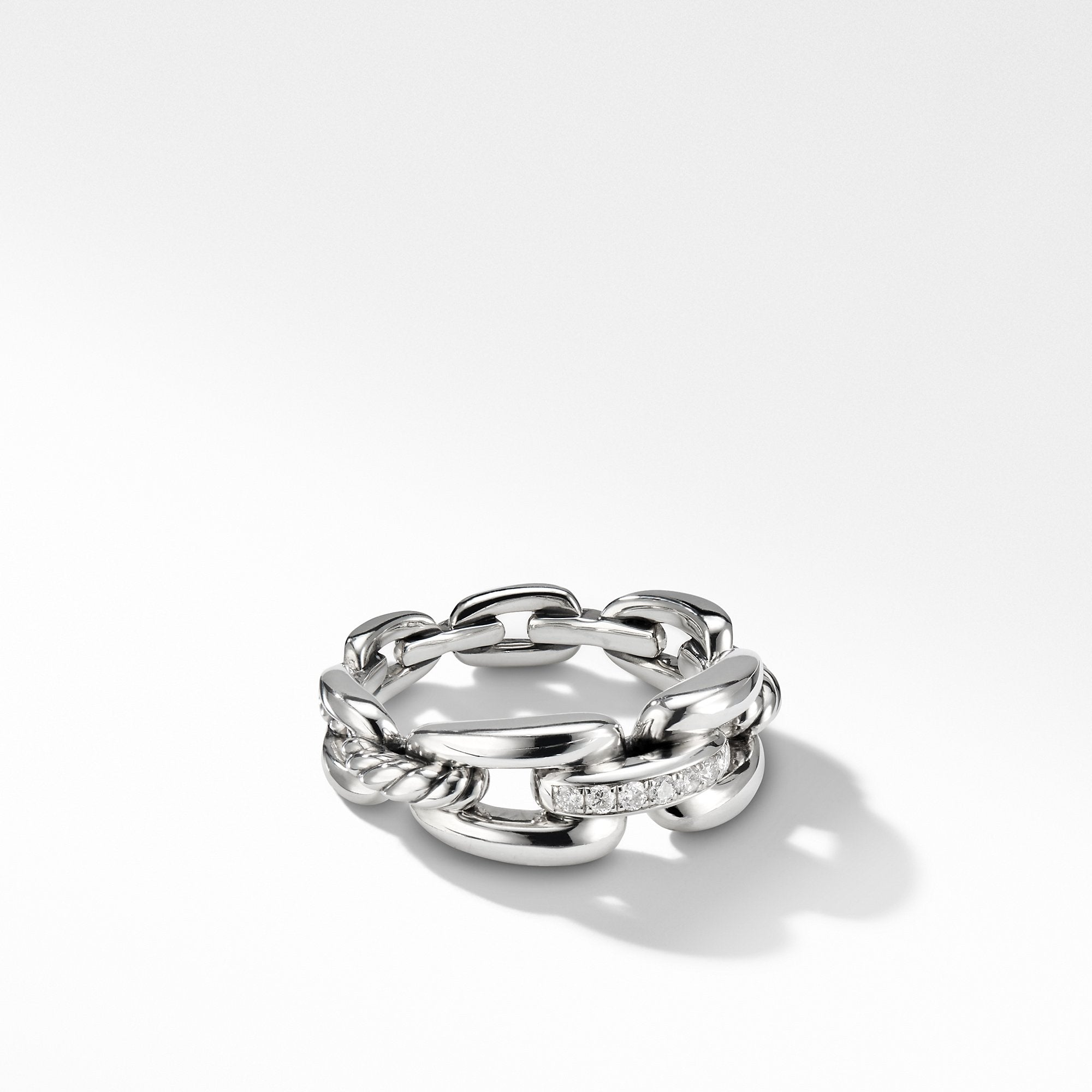 Wellesley Link™ Chain Ring with Diamonds