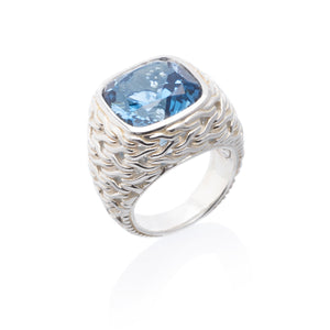 Classic Chain London Blue Topaz Ring