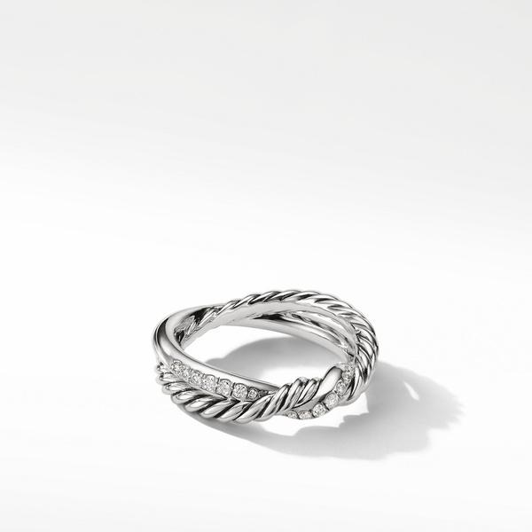 Continuance Twist Ring with Diamonds