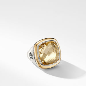 Albion® Statement Ring with 18K Gold and Champagne Citrine