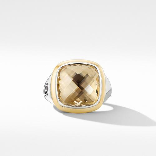 Albion® Ring with Champagne Citrine and 18K Yellow Gold