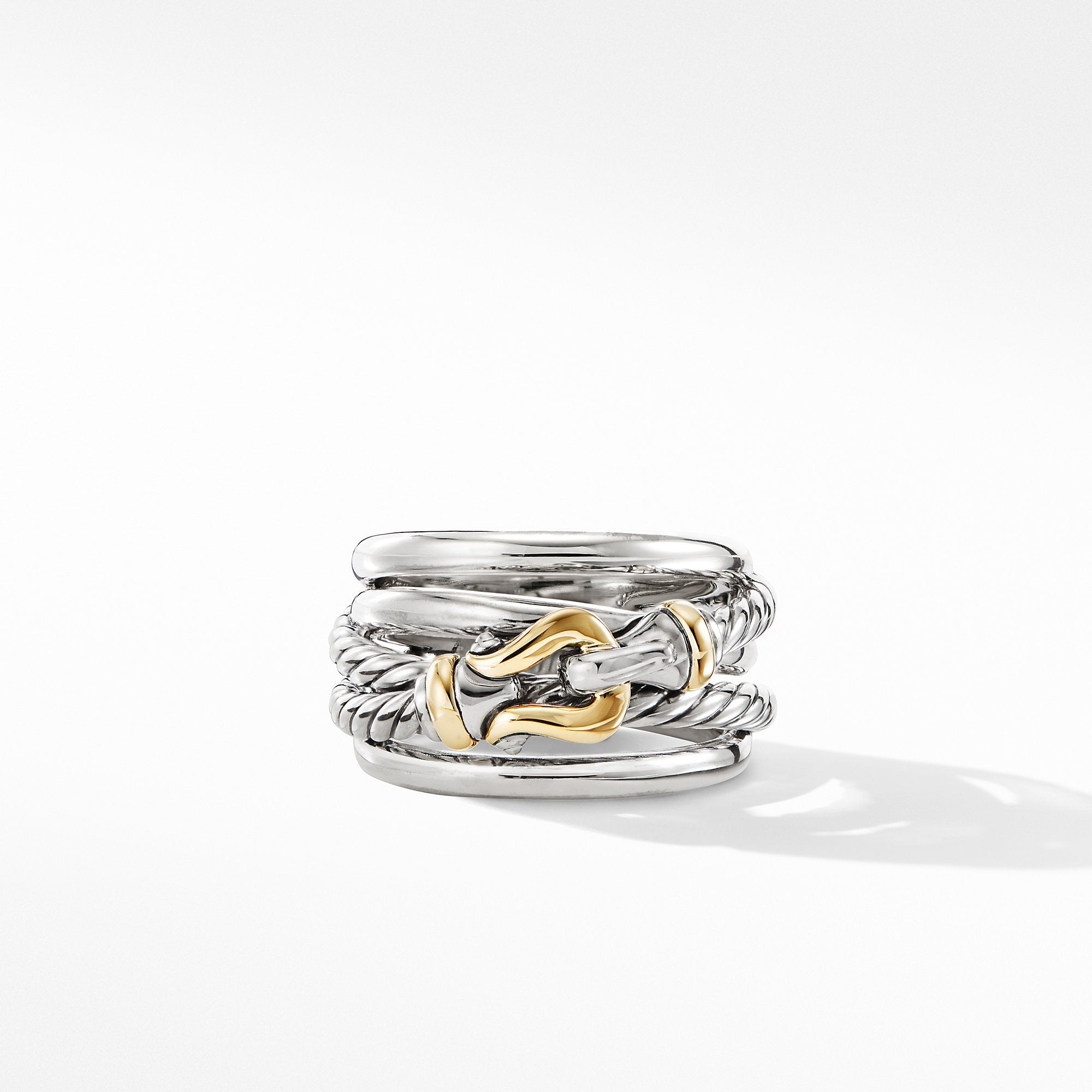 Buckle Ring with 18K Yellow Gold