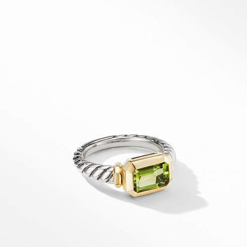 Novella Ring with Peridot and 18K Yellow Gold