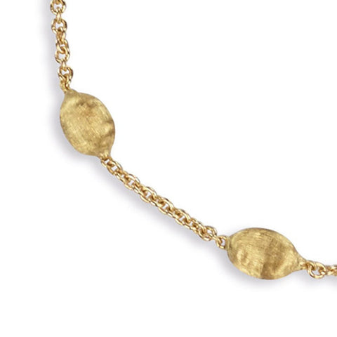 Siviglia 18k Yellow Gold Small Bead Bracelet Long S Jewelers