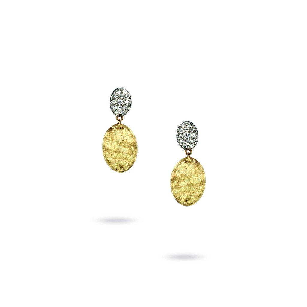 Siviglia 18K Yellow Gold & Diamond Pave Drop Earrings