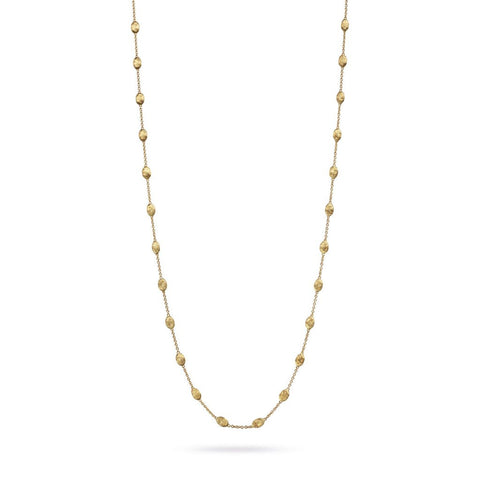 Siviglia 18K Yellow Gold Small Bead Long Necklace