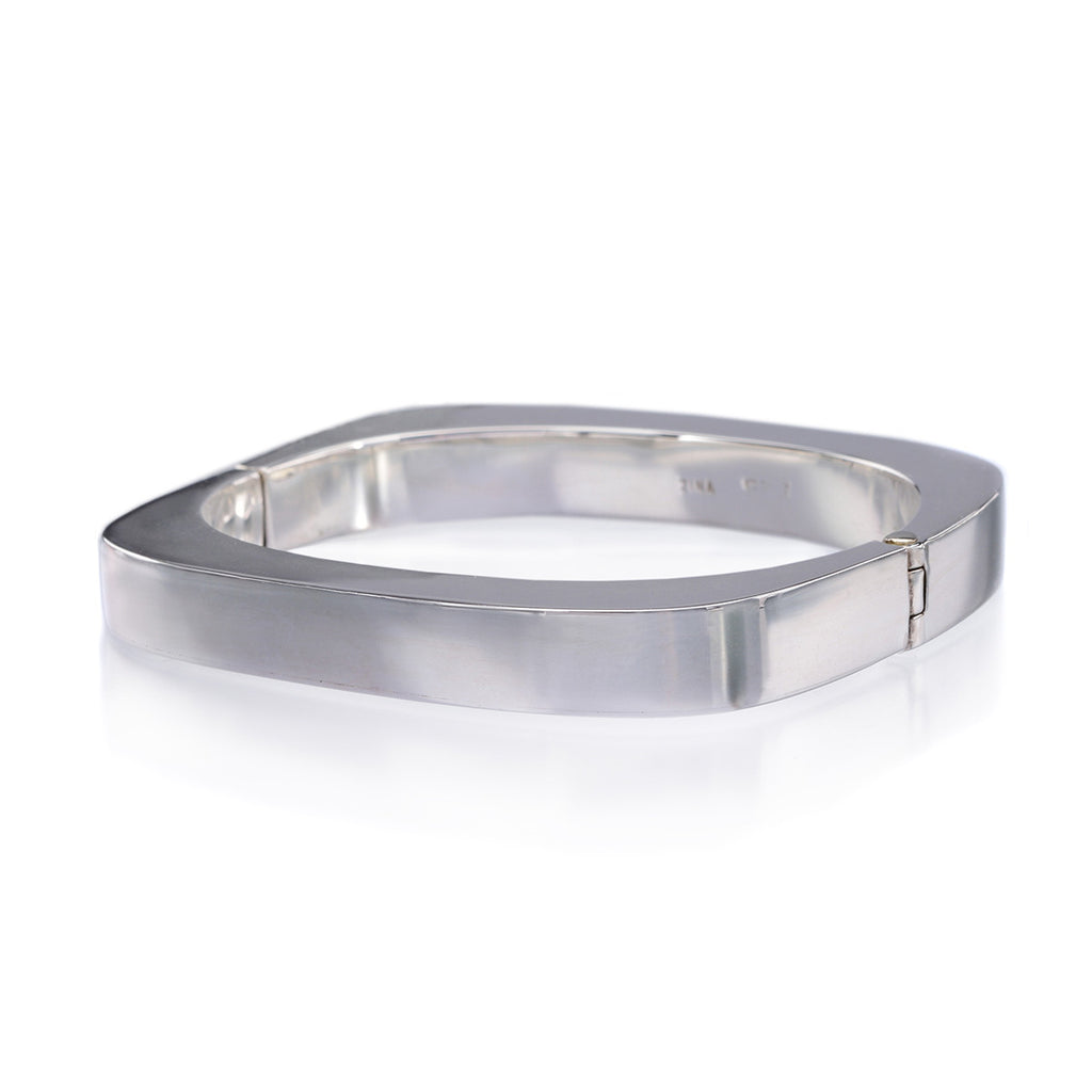 Sterling Silver Square Bangle Bracelet