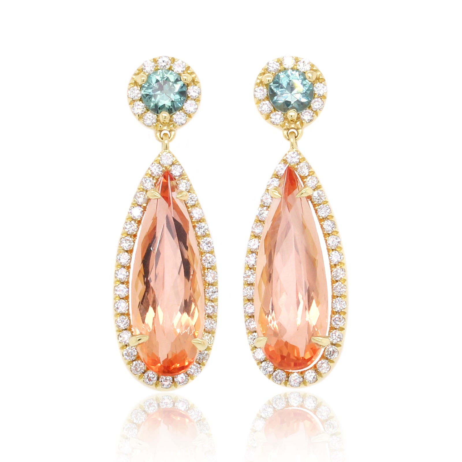 18K Yellow Gold Pear Topaz Earrings (One-Of-A-Kind Collection)