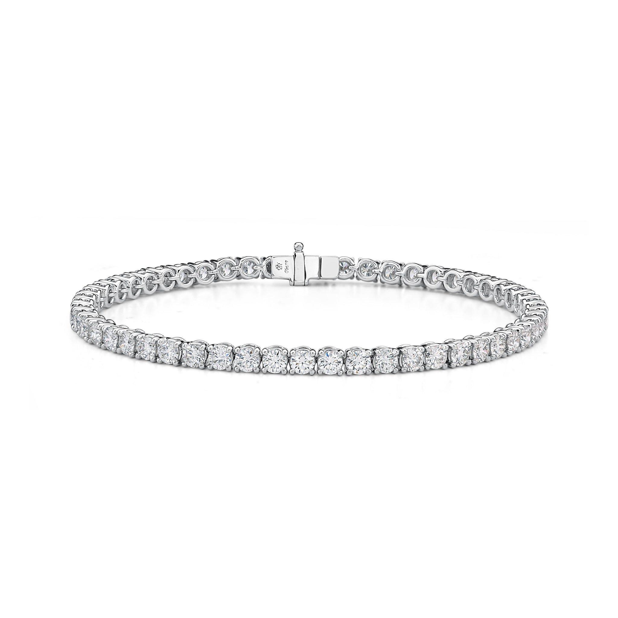 18K White Gold Diamond Line Tennis Bracelet