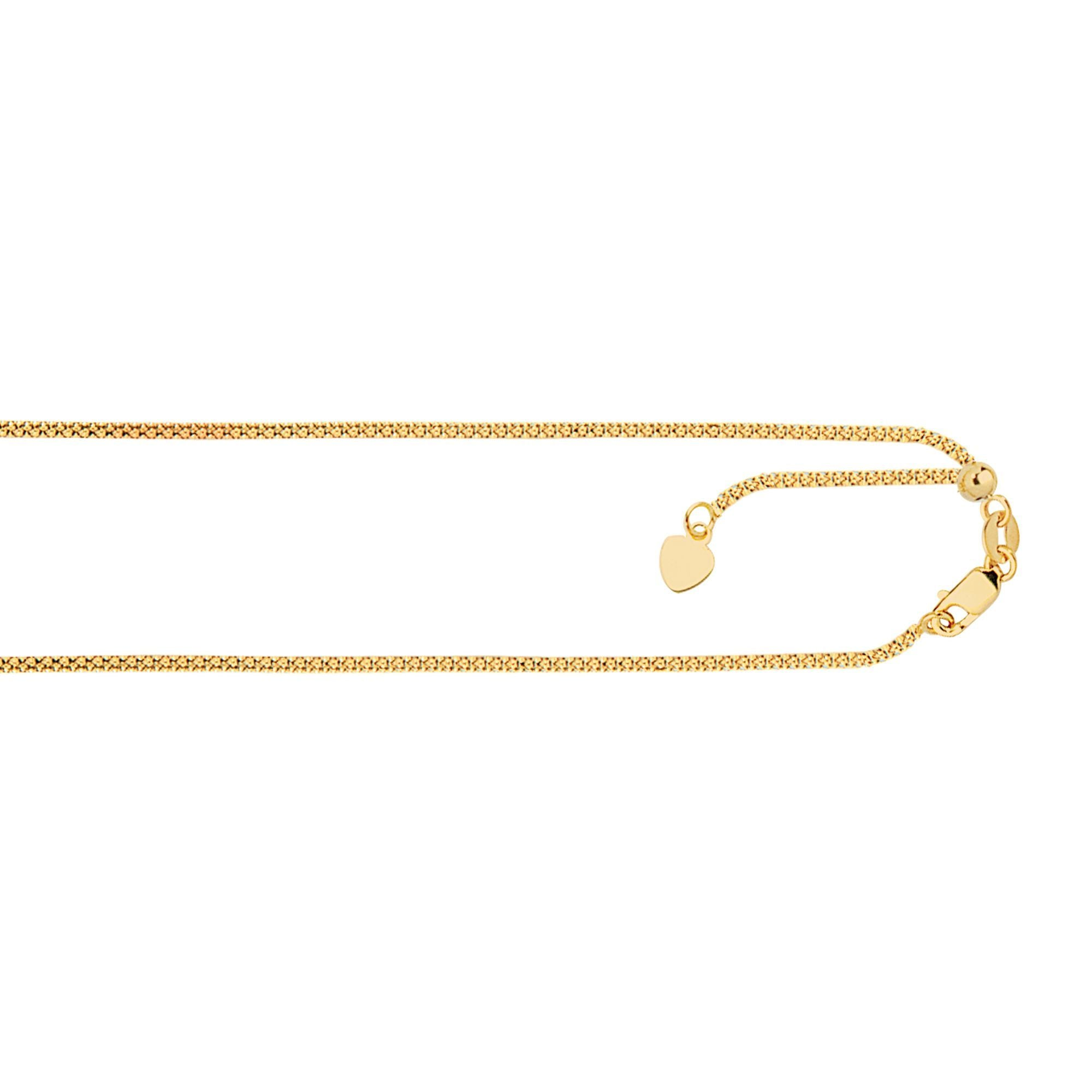 14K Yellow Gold Popcorn Chain