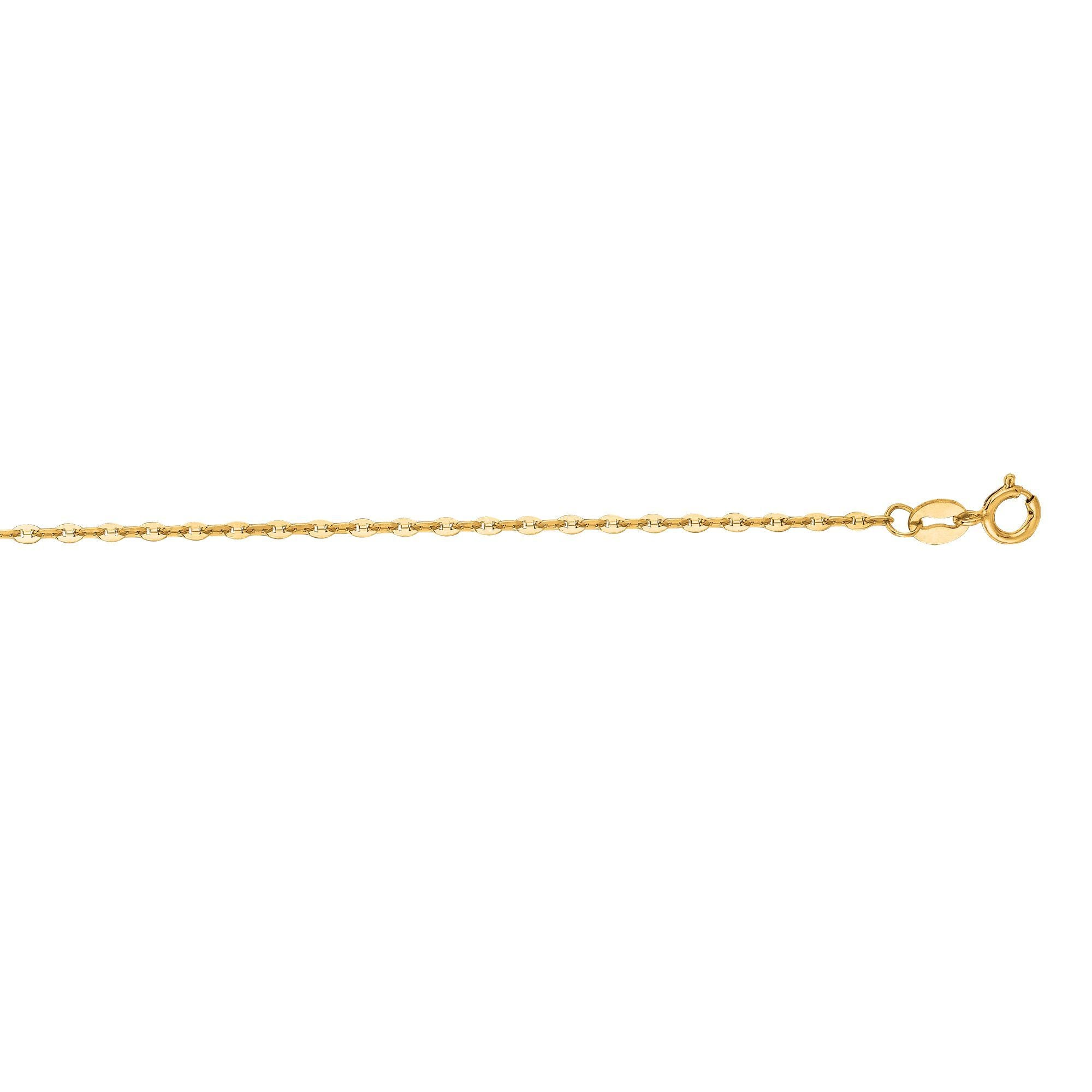 14K Yellow Gold Mariner Link Chain
