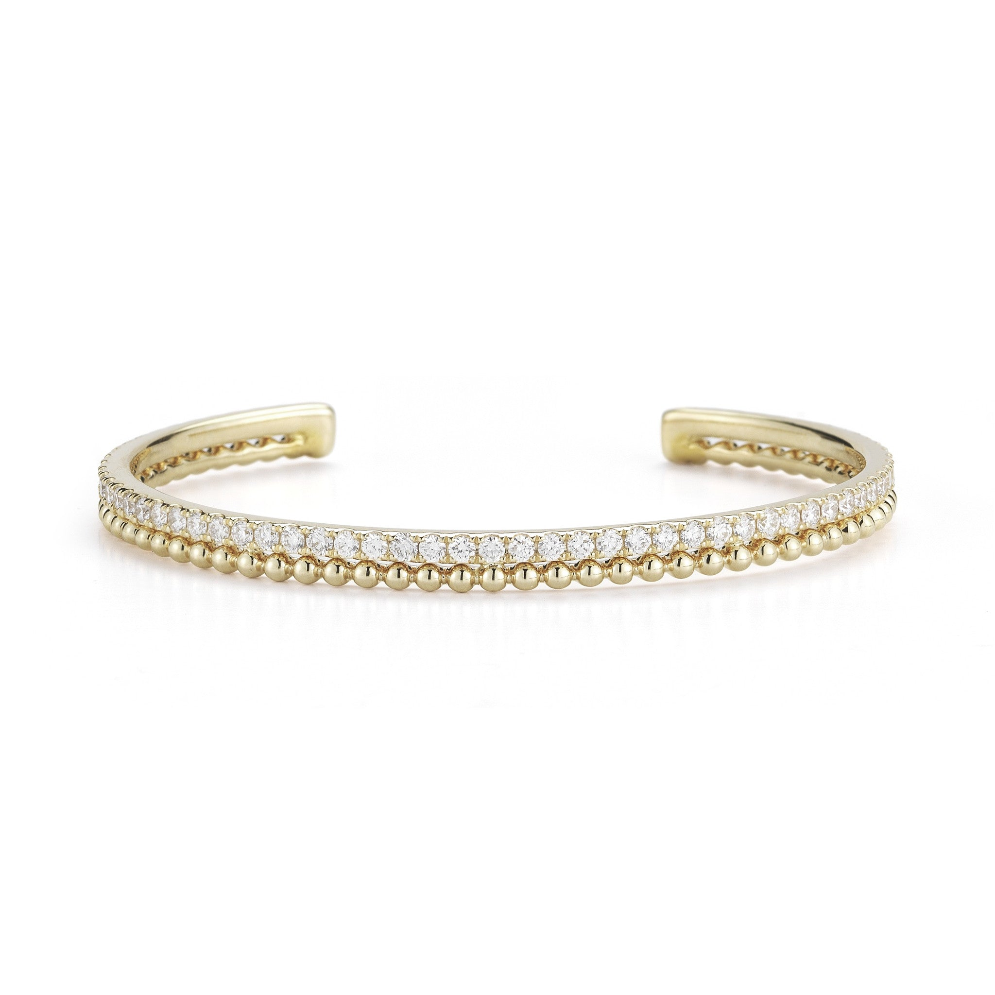 Poppy Rae 14K Diamond Cuff