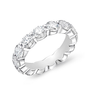 Platinum Petite Prong Eternity Diamond Band