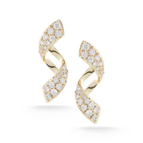 Carly Brooke 14K Yellow Gold Diamond Earrings