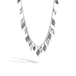 Classic Chain Wave Silver Necklace, Size 36