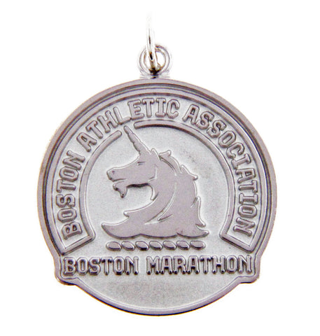 Sterling Silver Boston Marathon Pendant Charm