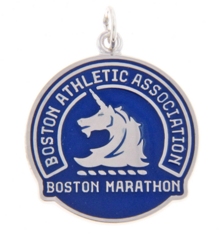 Sterling Silver & Blue Boston Marathon® Pendant Charm