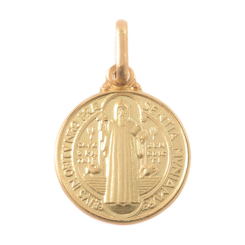 14K Yellow Gold Saint Benedict Medal
