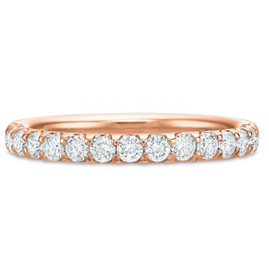 18K Rose Gold Comfort Fit Prong Set Eternity Band