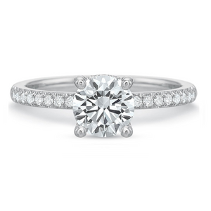 Platinum Mod Classic French Cut Engagement Ring Setting
