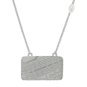 Sterling Silver Boston Marathon® Finish Line Map Necklace