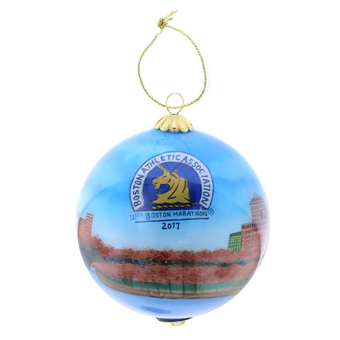 2017 Boston Marathon® Boston Skyline Commemorative Glass Ornament