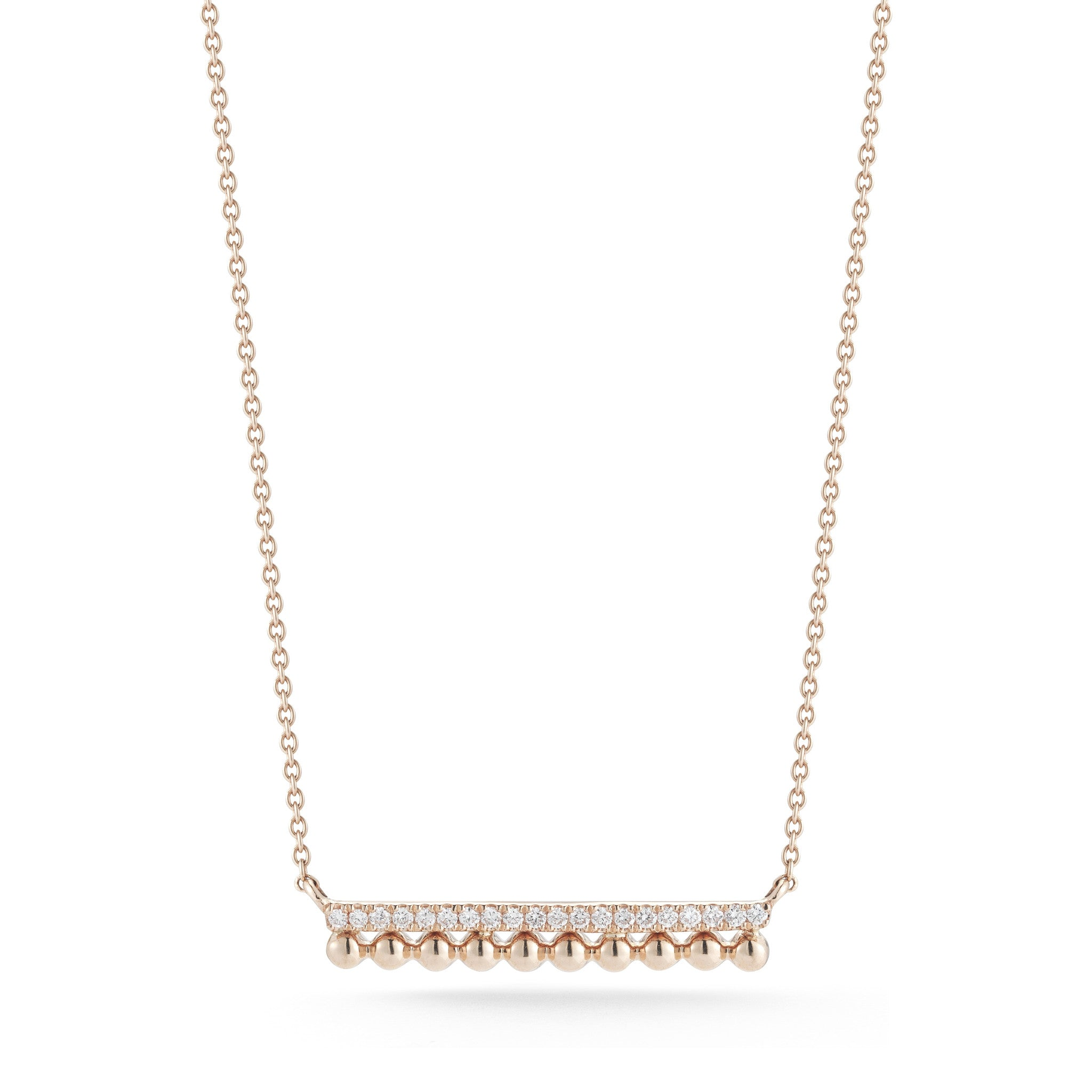 Poppy Rae 14K Bar Necklace