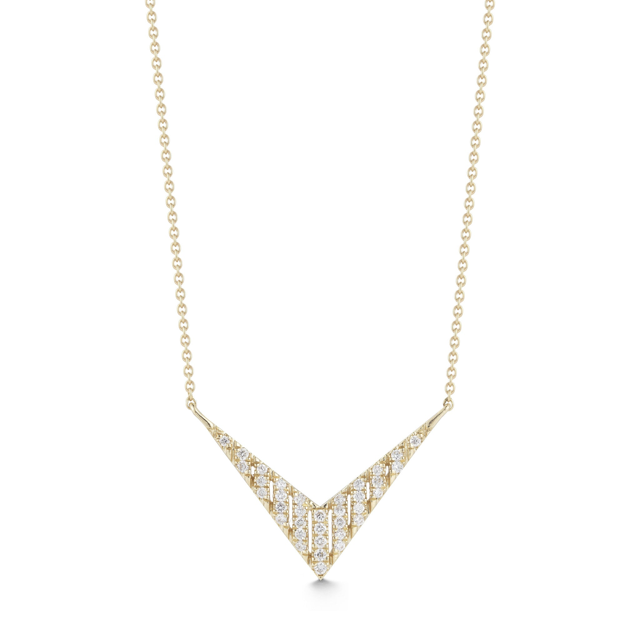 Jeb 14K Diamond V Necklace