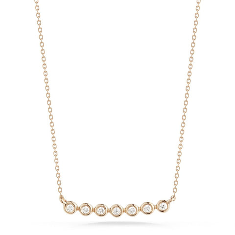 Lulu Jack 14K Rose Gold Diamond Necklace