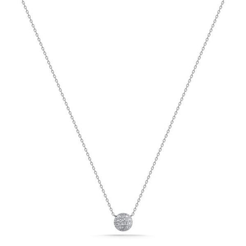 Lauren Joy 14K White Gold Diamond Mini Necklace