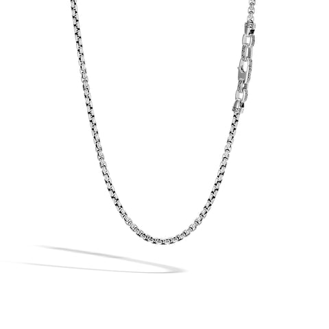 Classic Chain Silver Box Chain Necklace