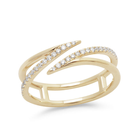 Sarah Leah 14K Diamond Band