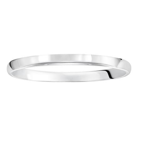 14K White Gold 2mm Low Dome Band