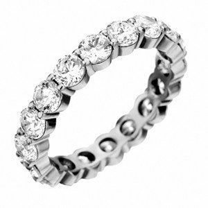 Platinum Pétite Prong® Diamond Eternity Band 3.20CTW