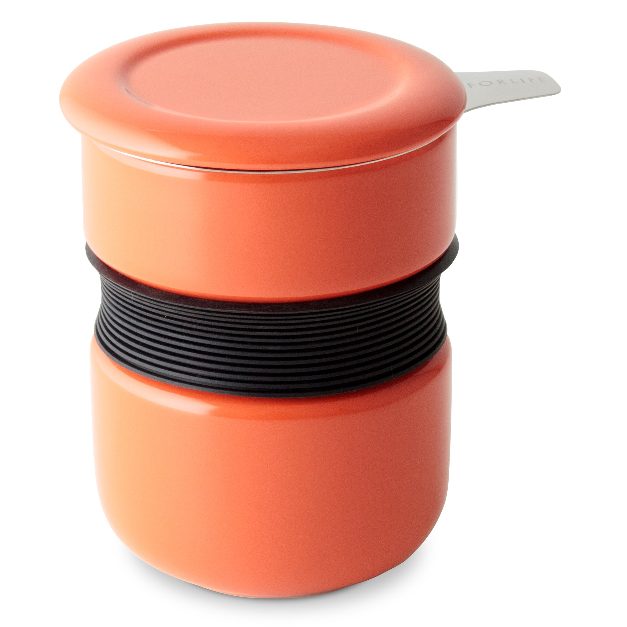 Curve Asian Style Tea Cup<br>with Infuser & Lid 12 oz.