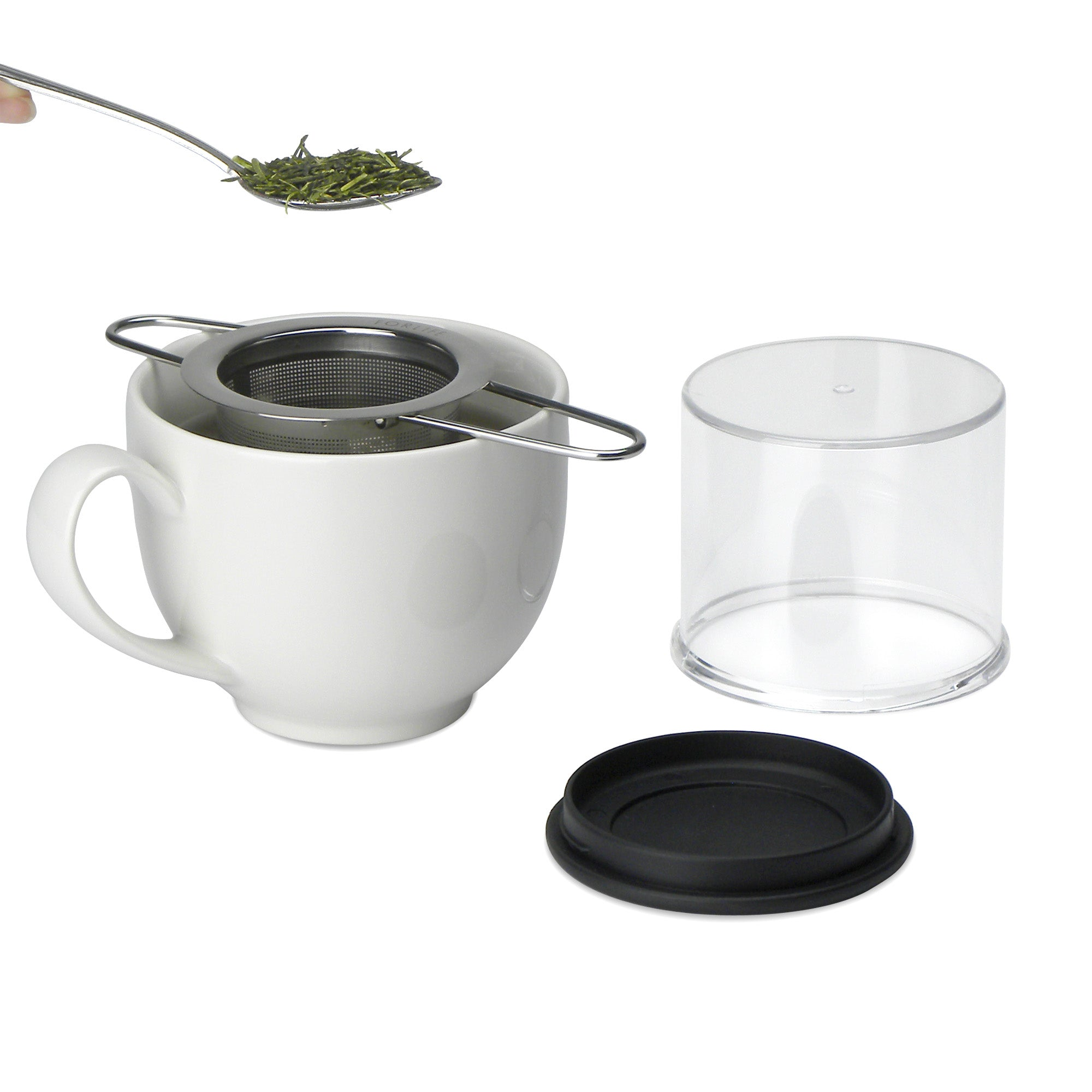 Folding Handle Tea Infuser with Carrying Case (Set of 6)