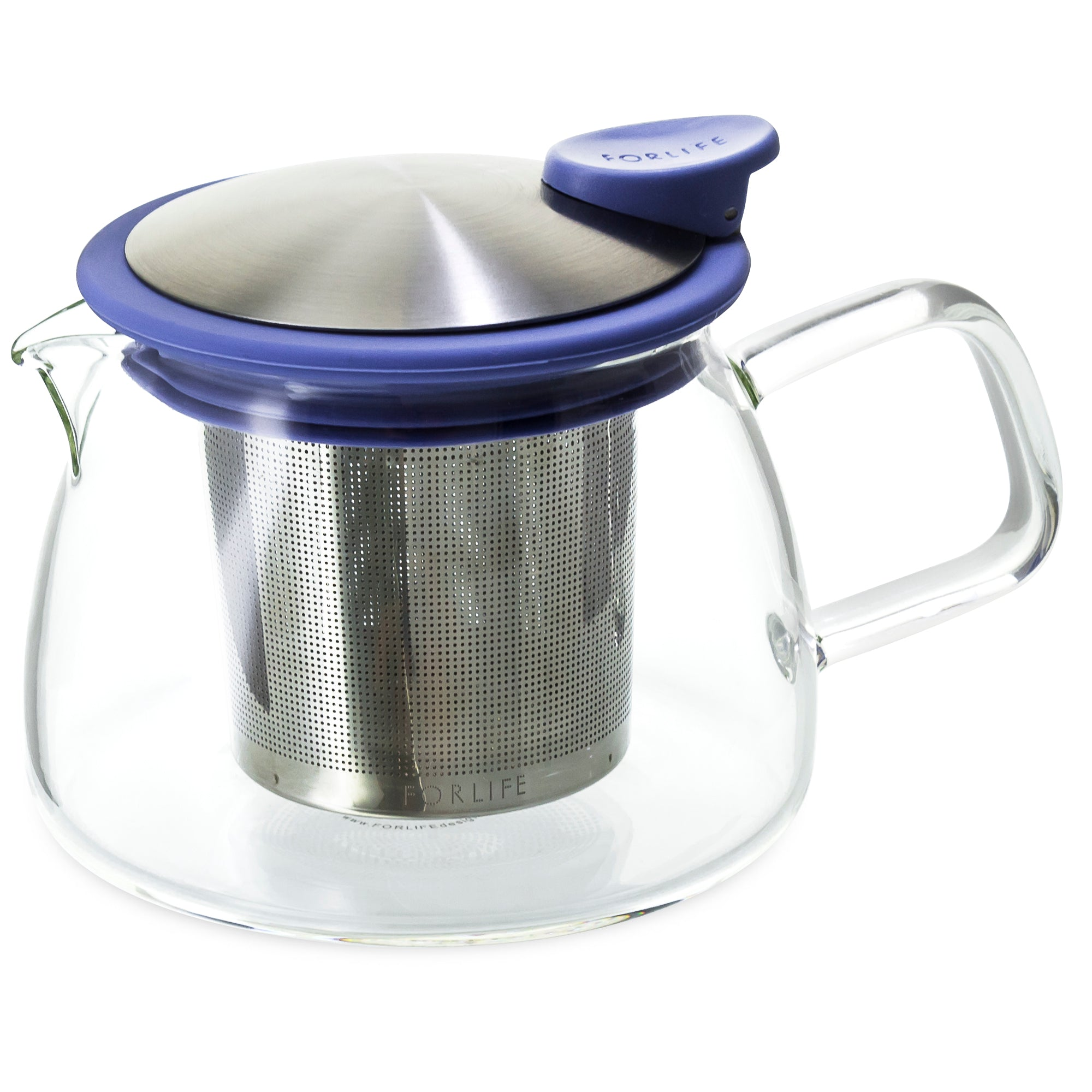 Bell Glass Teapot with Basket Infuser<br>14 oz.