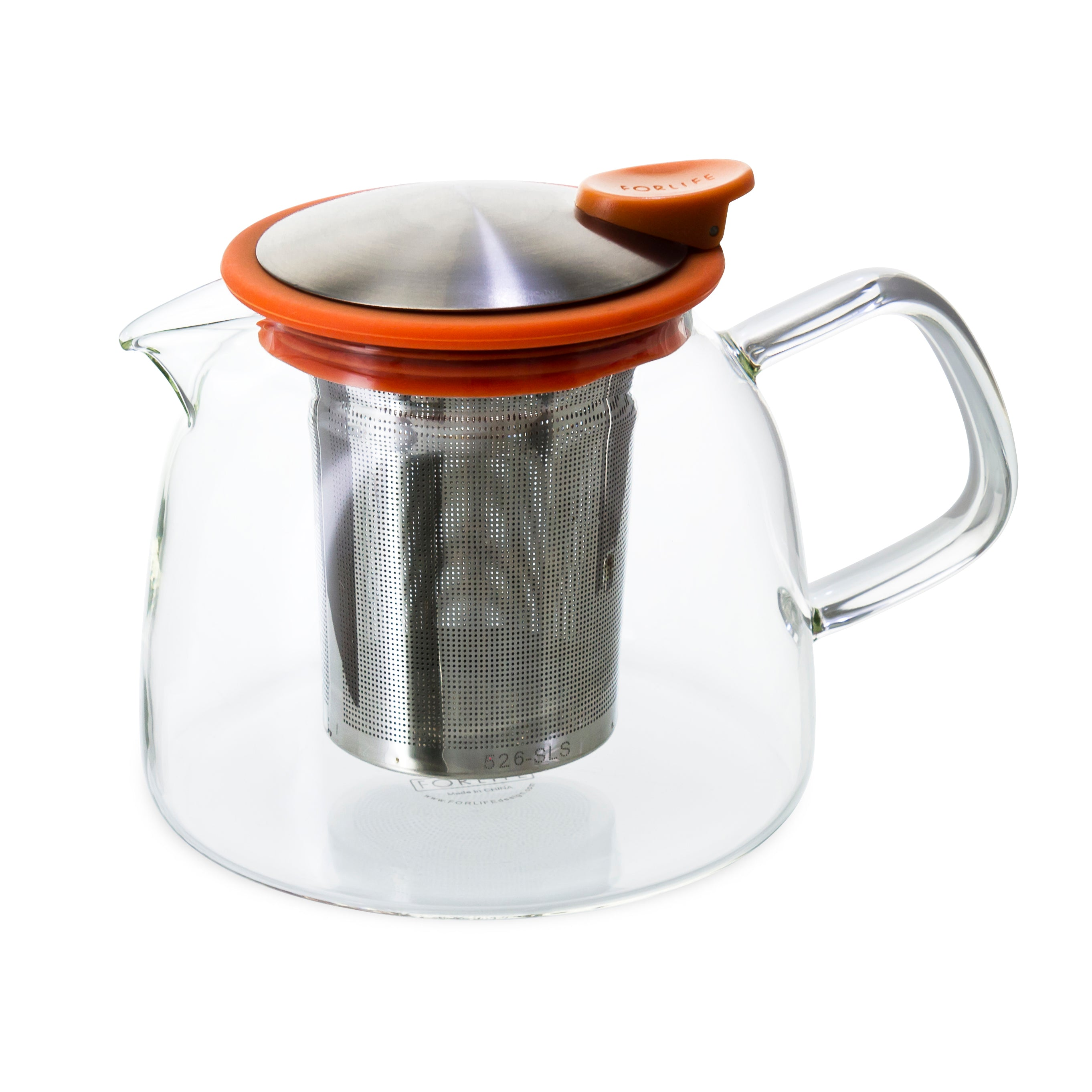 Bell Glass Teapot with Basket Infuser<br>24 oz.
