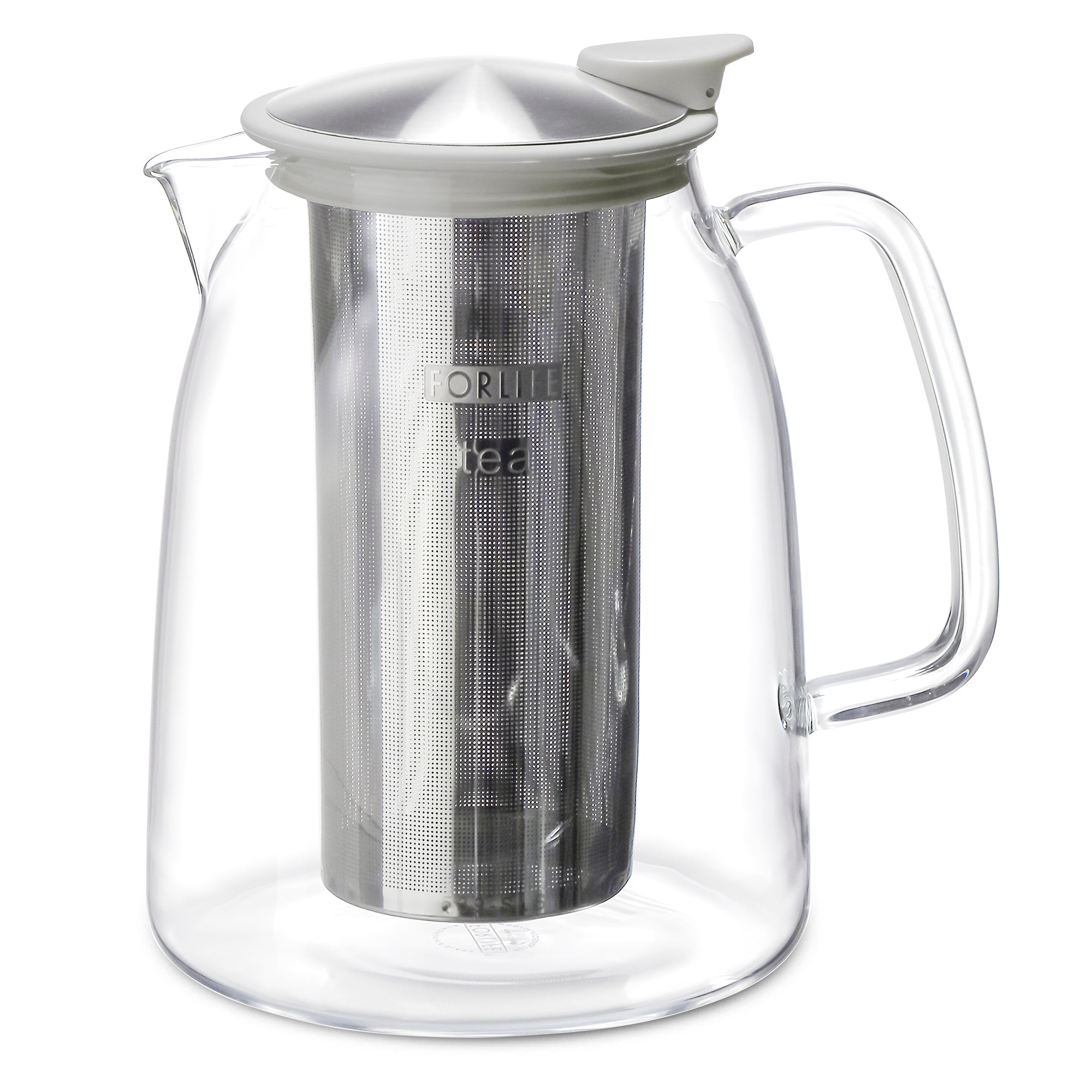 Mist Glass Iced Tea Jug with Basket Infuser, 68 oz.