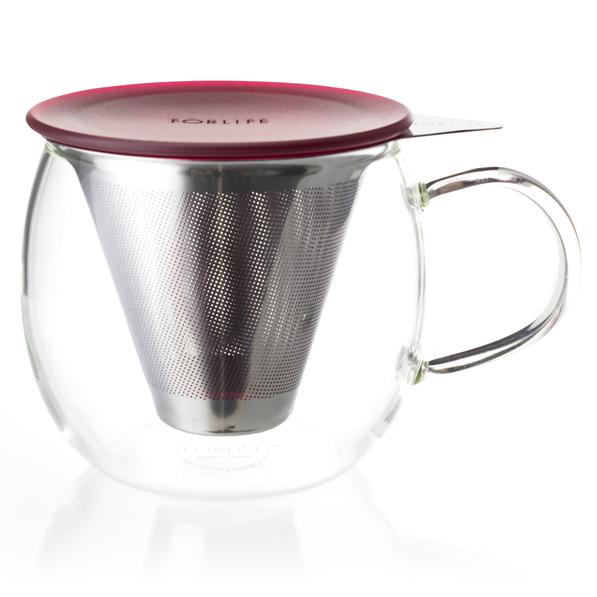 Lucidity Glass Brew-in-Cup with Stainless Infuser & Lid 12 oz.