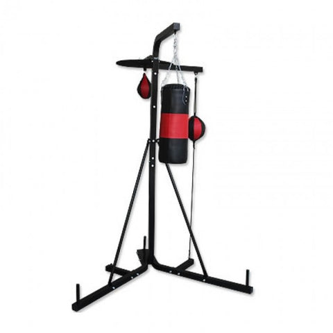 3-Way Boxing Station with Floor to Ceiling and Speed Ball