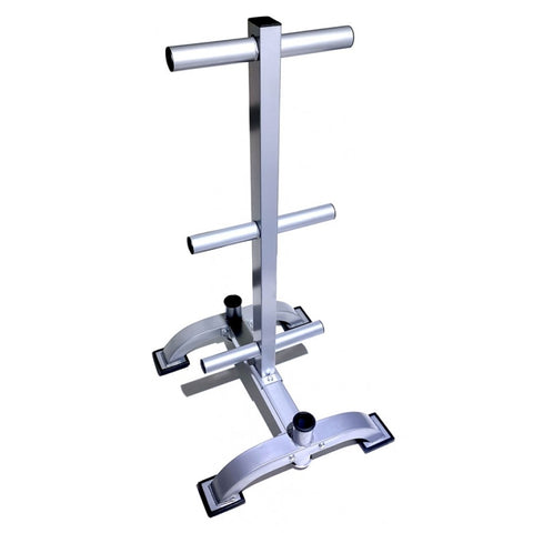 Olympic Bumper Plate Rack with Bar Storage (3 Tier) (50mm)