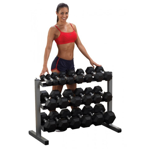 Body Solid Powerline 3 Tier 36 inch Dumbbell Rack (GDR363)