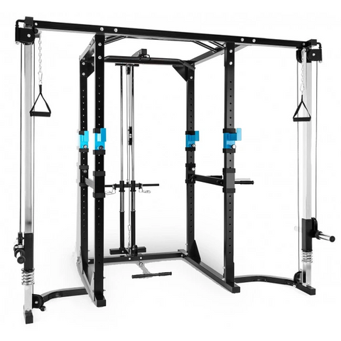 Power Rack (TB-430) with Lat & Cable Crossover Attachments