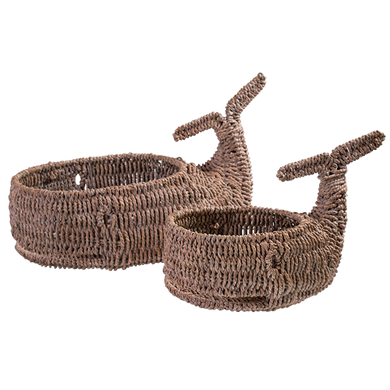 New Woven Whale Sea Grass Decorative Basket