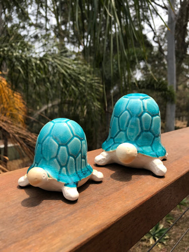 Ceramic Aqua Blue Turtles